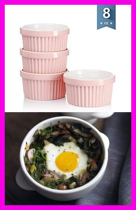 Amazon.com: Sweese 501.108 Porcelain Souffle Dishes, Ramekins for Baking - 8 Ounce for Souffle, Creme Brulee - Set of 4, Pink: Kitchen & Dining  #Keto #Baked #Eggs #Florentine #With #Larisa #Alvarez #Freizeit-T-Shirt-Outfit #naturalnail #wholefoodsmarket #foodandorganicremedies #myfoodandfamily #vintagevehicles #pumpkinbreakfastideas #outfitsideen #makeupideen #breakfeastideen #sportideen