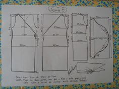 Molde de Vestido Envelope tamanho 54.
