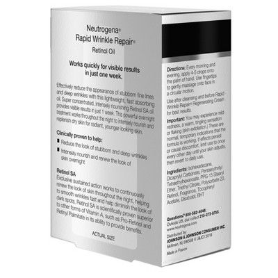 Neutrogena Rapid Wrinkle Repair Anti Wrinkle Retinol Oil 1 0 Fl Oz Neutrogena Gentle Facial Cleanser Facial Skin Care