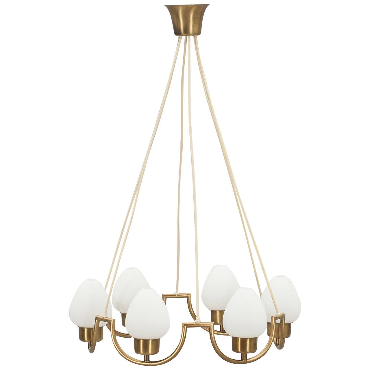 Scandinavian Chandelier From A Unique Collection Of Antique And