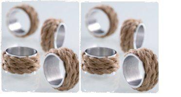 Shiraleah Rope Napkin Rings - coastal decor