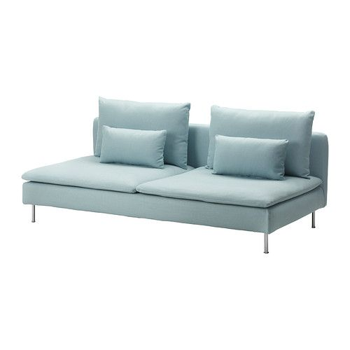 SÖDERHAMN Sovesofaseksjon - Isefall lys turkis  - IKEA