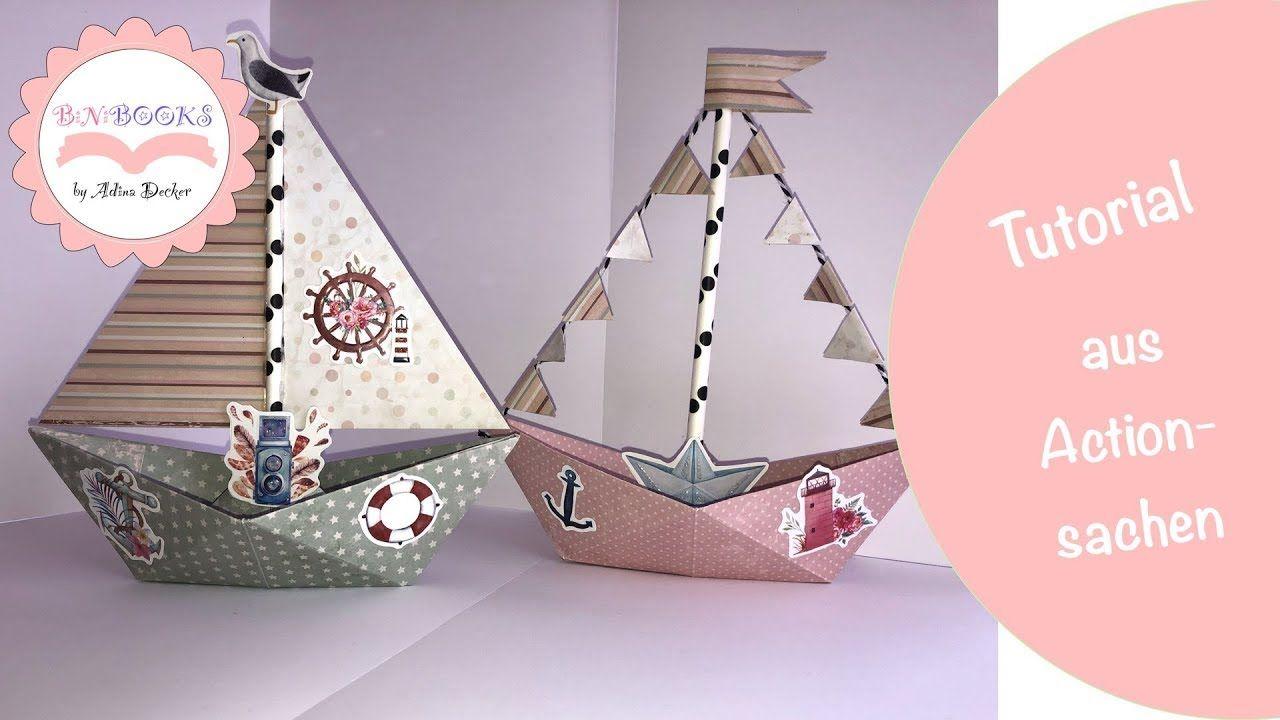 Photo of DIY * Deko Schiffe * aus meinem Action Haul * basteln mit Papier * wie Dollar Tree * Tutorial
