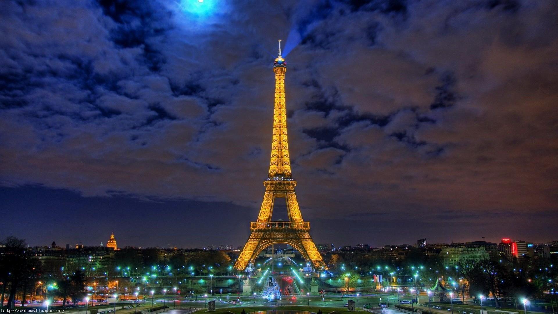Обои Эйфелева башня, Облака, вид, лодки, красиво. Города foto 14