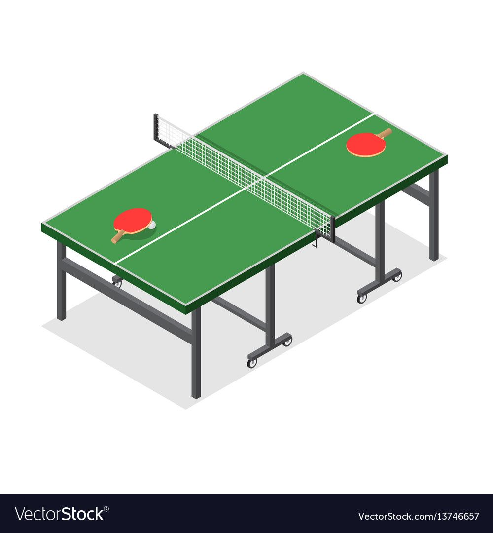 Table Tennis Game Isometric View Vector Image On Vectorstock Table Tennis Game Table Tennis Olympic Table Tennis