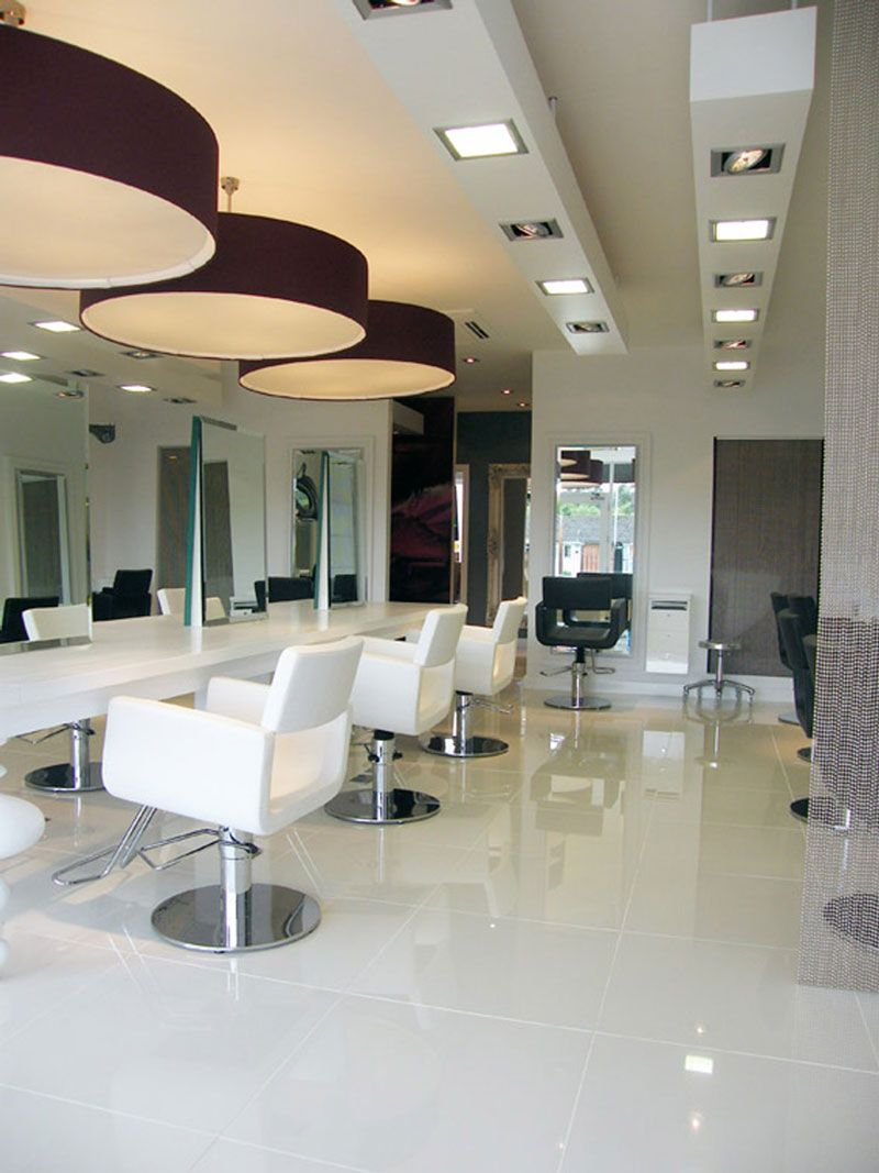 beauty salon makup studio ceiling