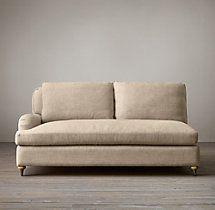 Belgian Classic Roll Arm Upholstered Left-Arm Sofa