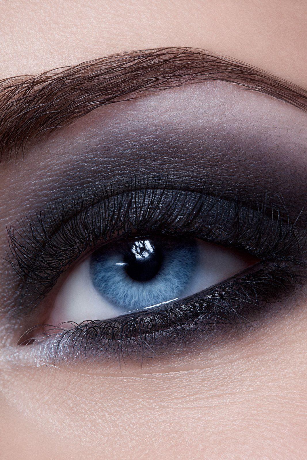 Blue Eye Close Up Grey Smokey Eye Beautiful Eye Makeup Makeup