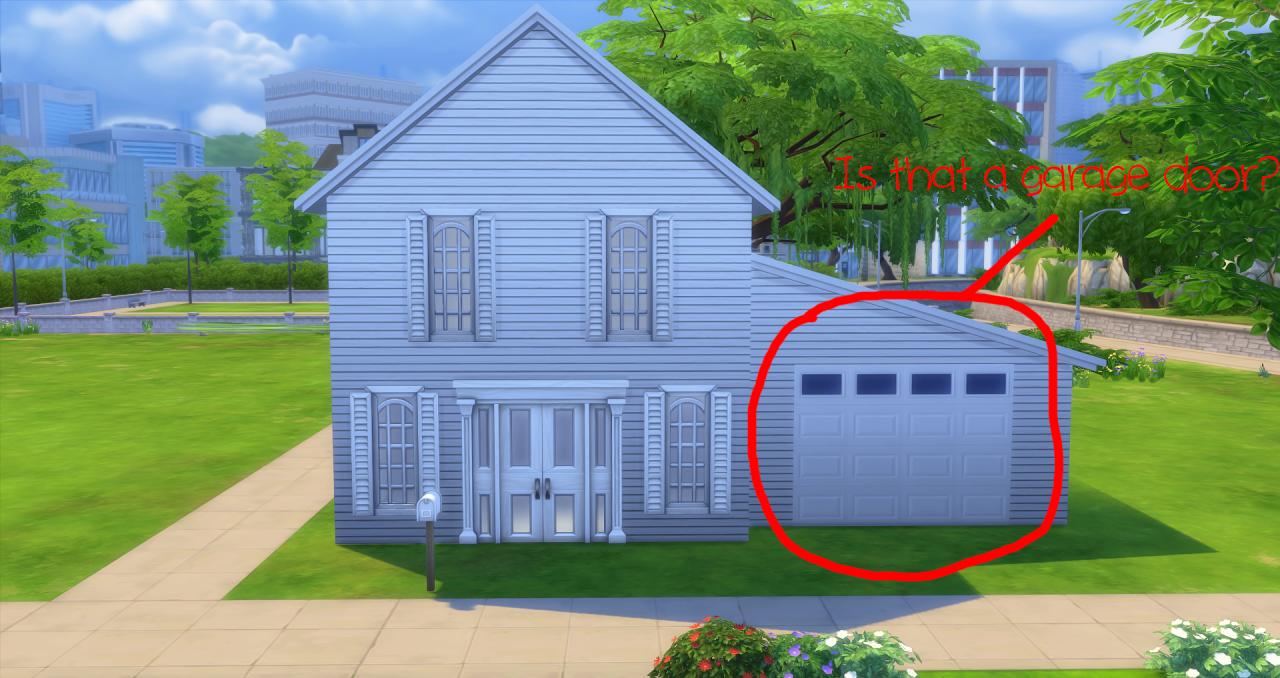 Lana Cc Finds Cutestuffgaming Garage Door For The Sims 4 Door Decals Garage Doors Sims House
