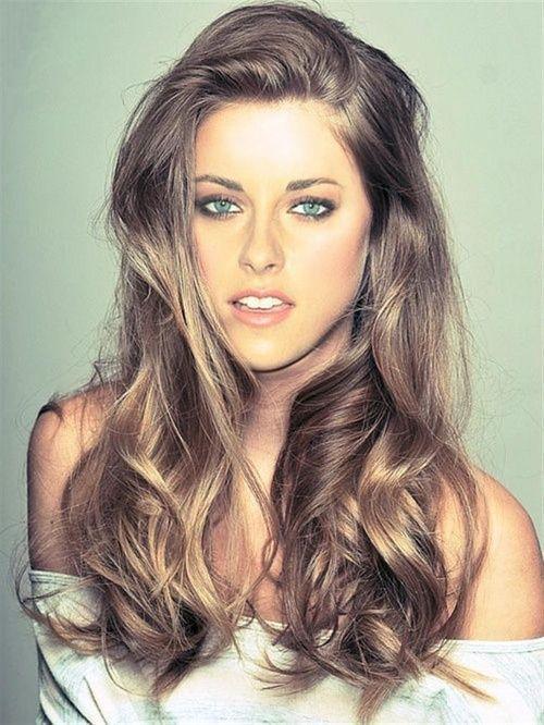 Blonde Highlights In Brown Hair Kristen Stewart Look Beauty