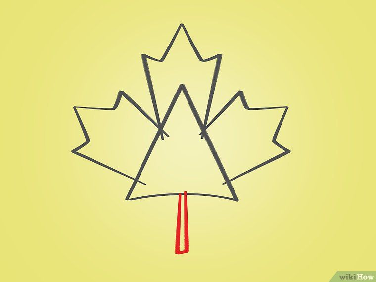 How To Draw A Maple Leaf 12 Steps With Pictures Maple Leaf Drawing Leaf Drawing Maple Leaf