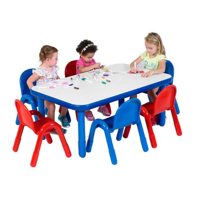 Baseline Preschool Table Chair Set By Angeles 48 W X 30 D
