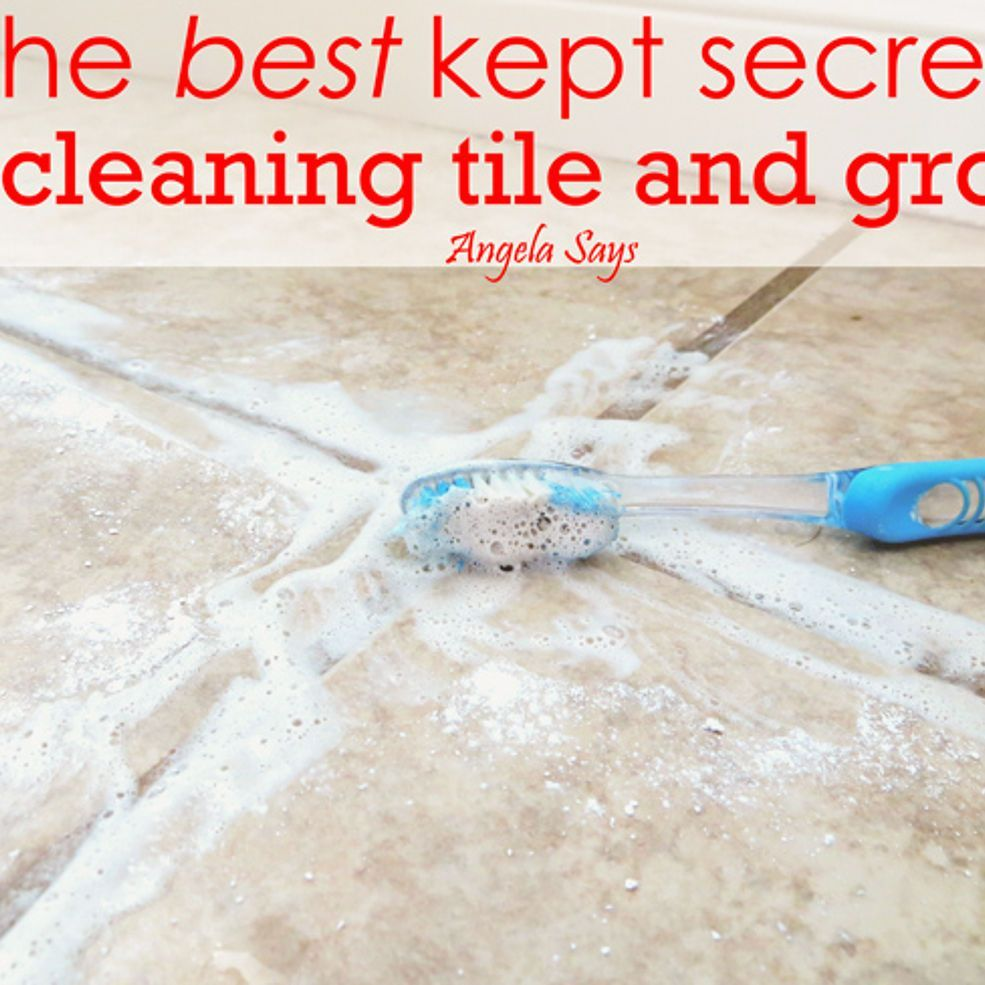 How to clean grout on bathroom floor tiles - The Best Kept Secret To Cleaning Tile And Grout