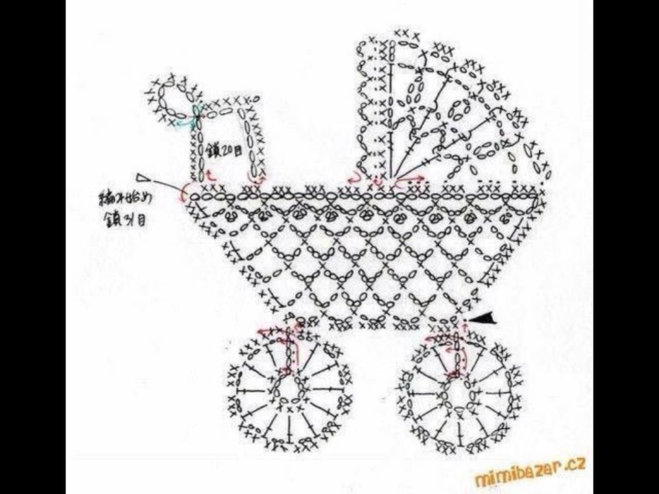 crochet snail diagram