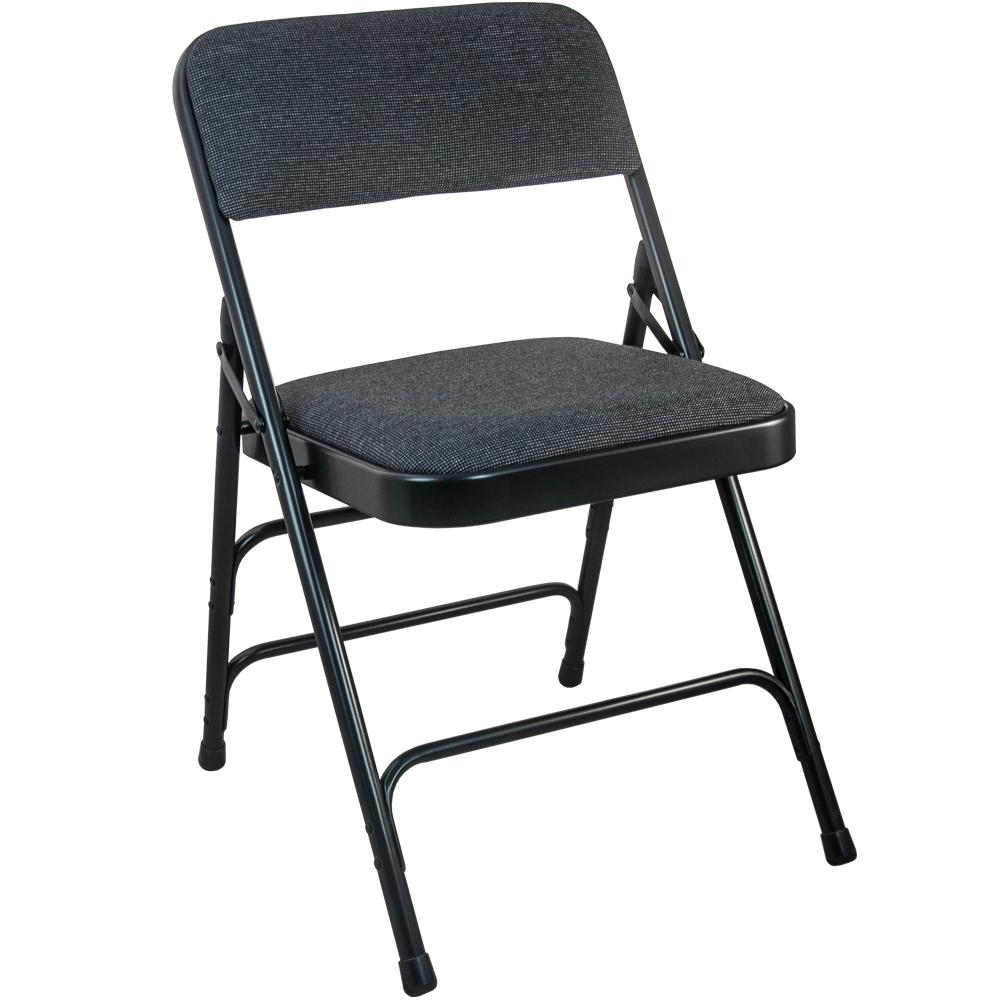 Advantage 1 In Black Fabric Seat Padded Metal Folding Chair 4