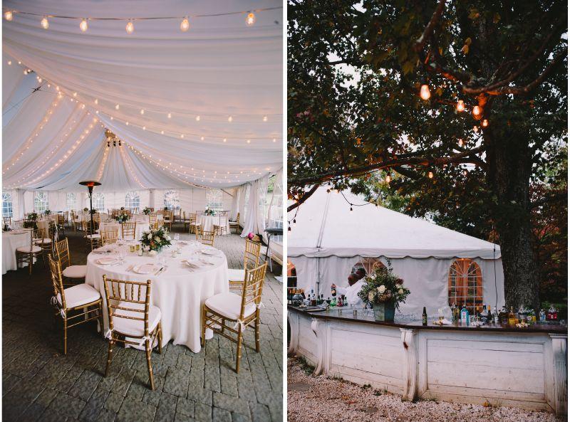 A Beaituful Wedding Reception At The Sundara Wedding Venue With Gold Vf Chiavari Chairs Www Visionfurnit Wedding Venues Orchard Wedding Apple Orchard Wedding