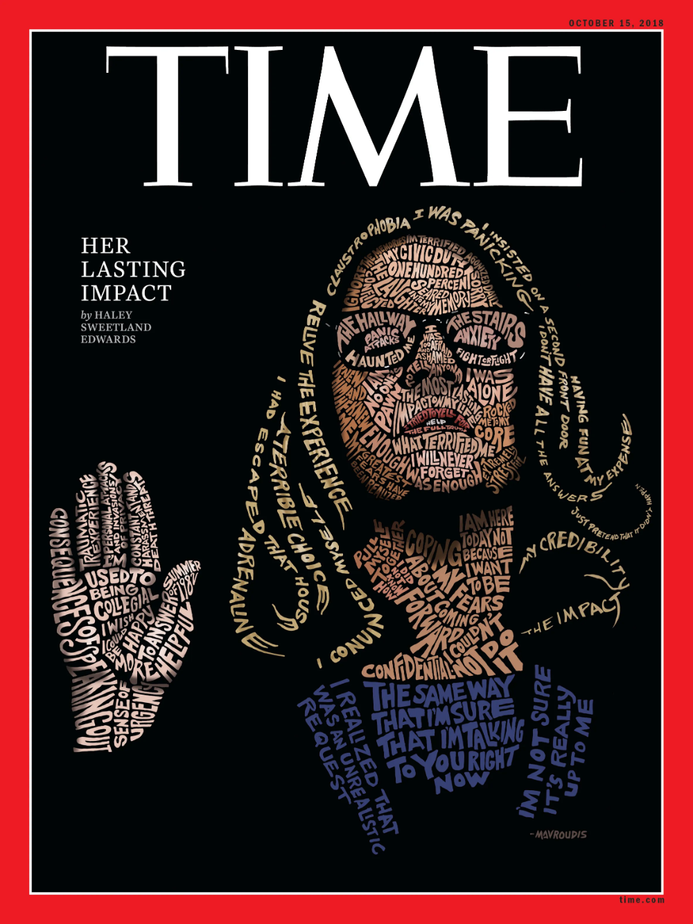 Photo of Time magazine cover art captures 'moment in our country's history' with Christine Blasey Ford illustration