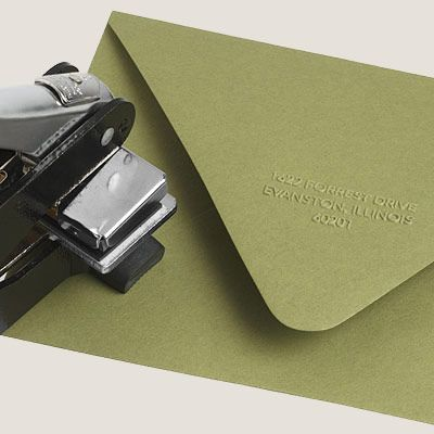 Return address embosser. Fancy. Ideal for perfectionists