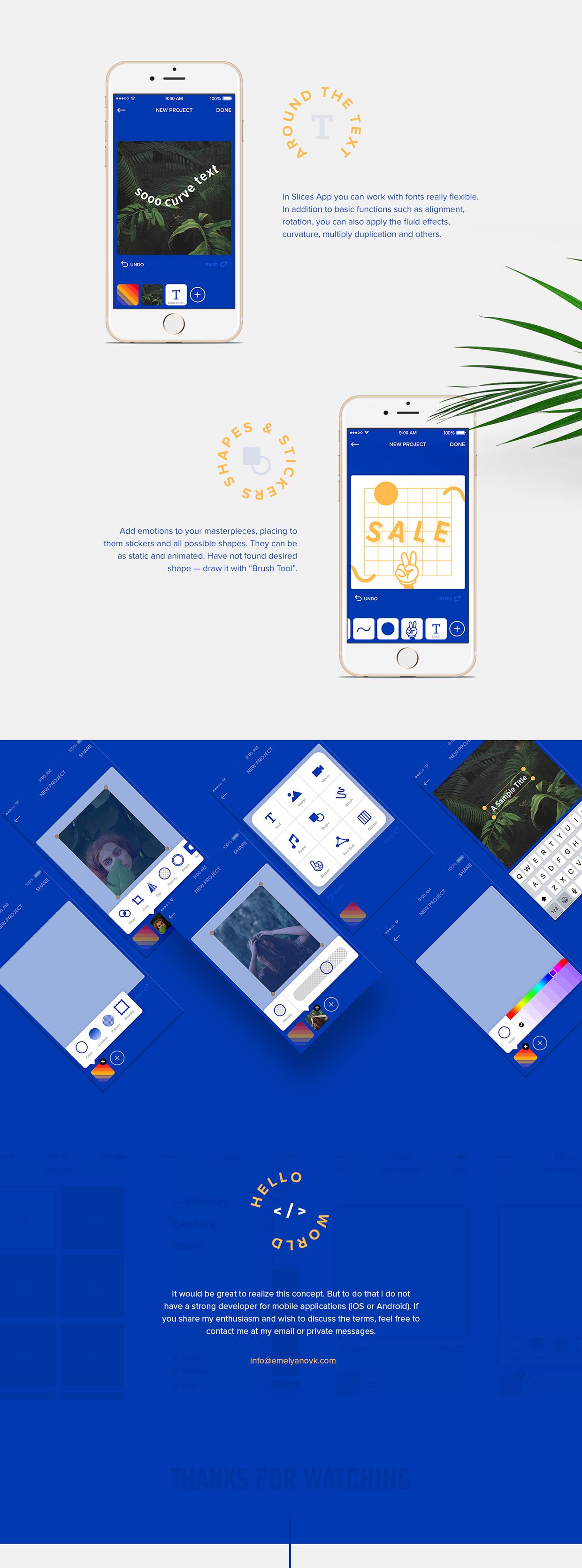 Slices App — SMM Banner Maker for iOS on Behance