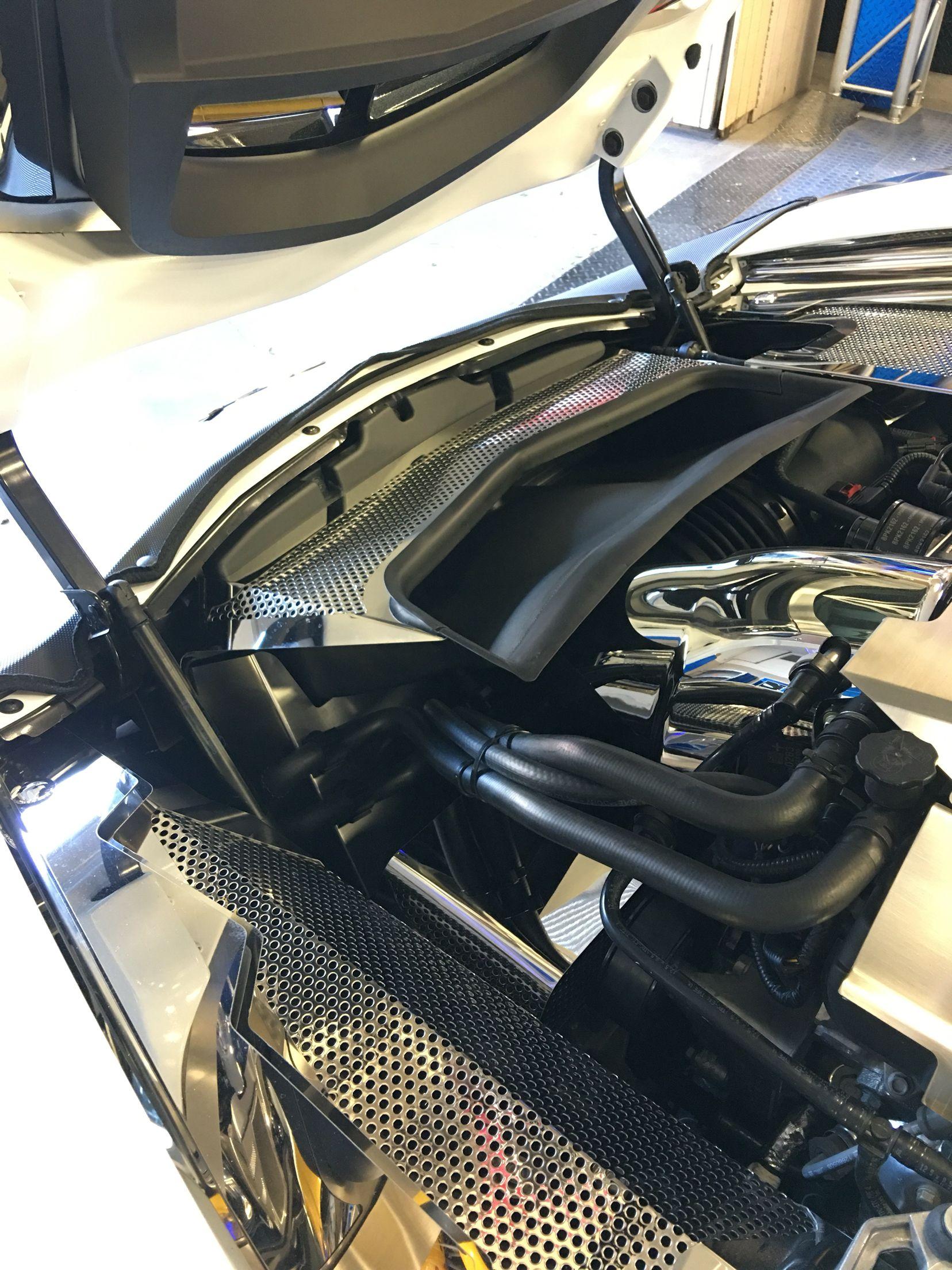 New For The Corvette C7 And Corvette Z06 Fan Shroud And Abs Covers Corvette Accessories Corvette C7 Corvette C7 Stingray
