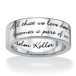rings with quotes on them
