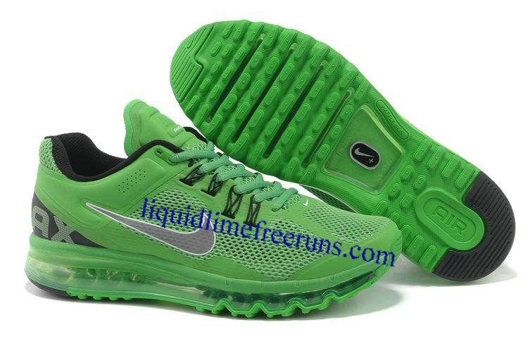 promo code 57b9a c318a Mens Nike Air Max 2013 Green Apple Silver Shoes  Mens  Nike  Air  Max  2013
