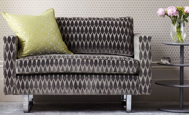 Romo Geometric Velvets available to buy online at Bryella. Call 01226 767124 for a competitive price.