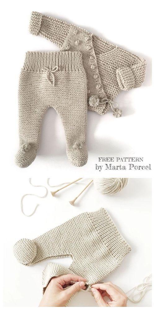 Photo of Knit Baby Kimono Jacket Legging Set Free Knitting Patterns,  #Baby #free
