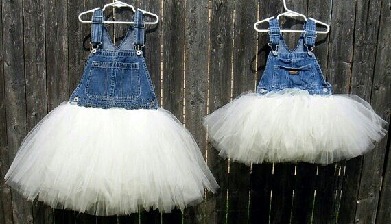 Diy Overall Tutus Dress Upcycle Your Child S Overalls