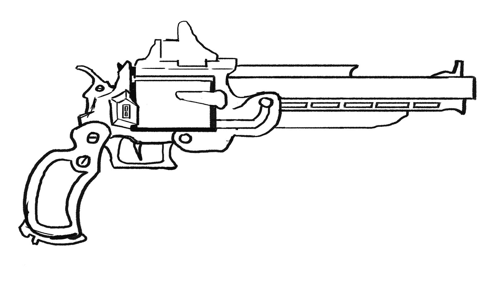 Cool Simple Gun Drawings