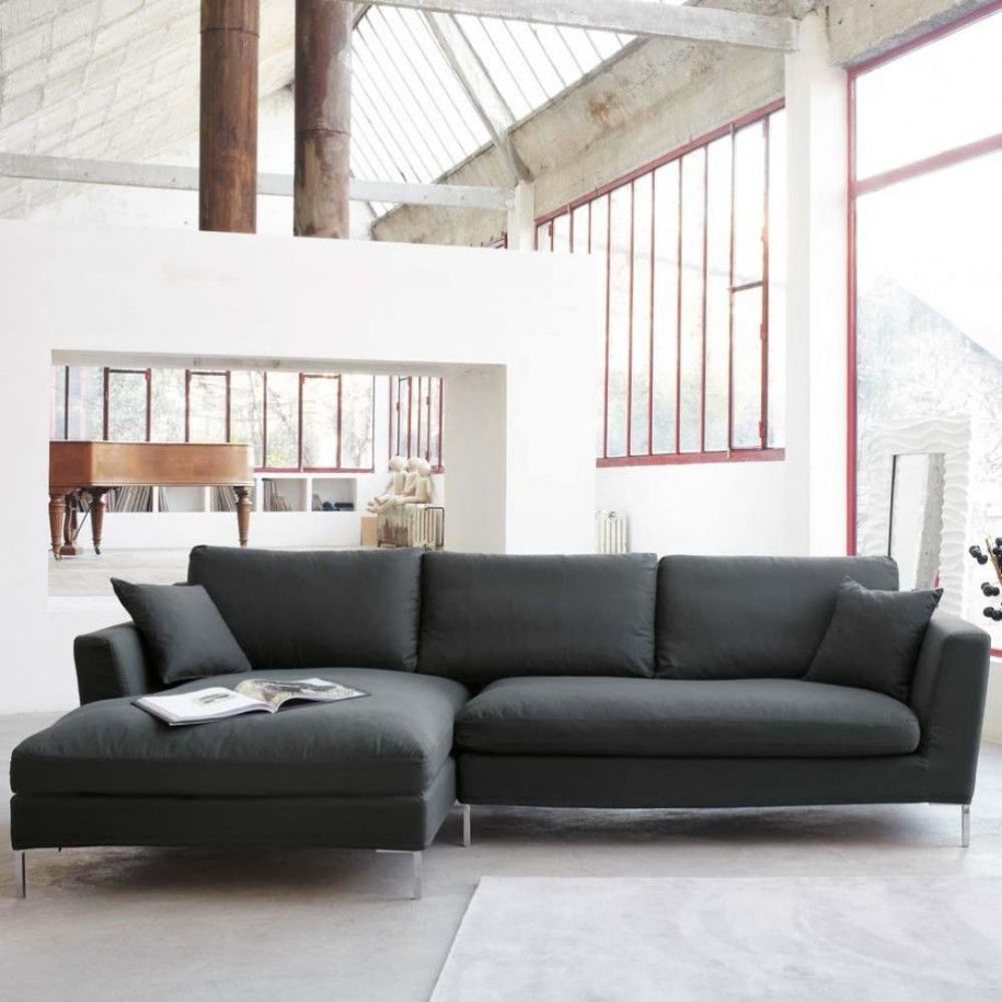 Fascinating Furniture For Living Room Decoration Using Black And Grey Sectional Sofa Ele Modern Grey Living Room Black Sofa Living Room Grey Sofa Living Room