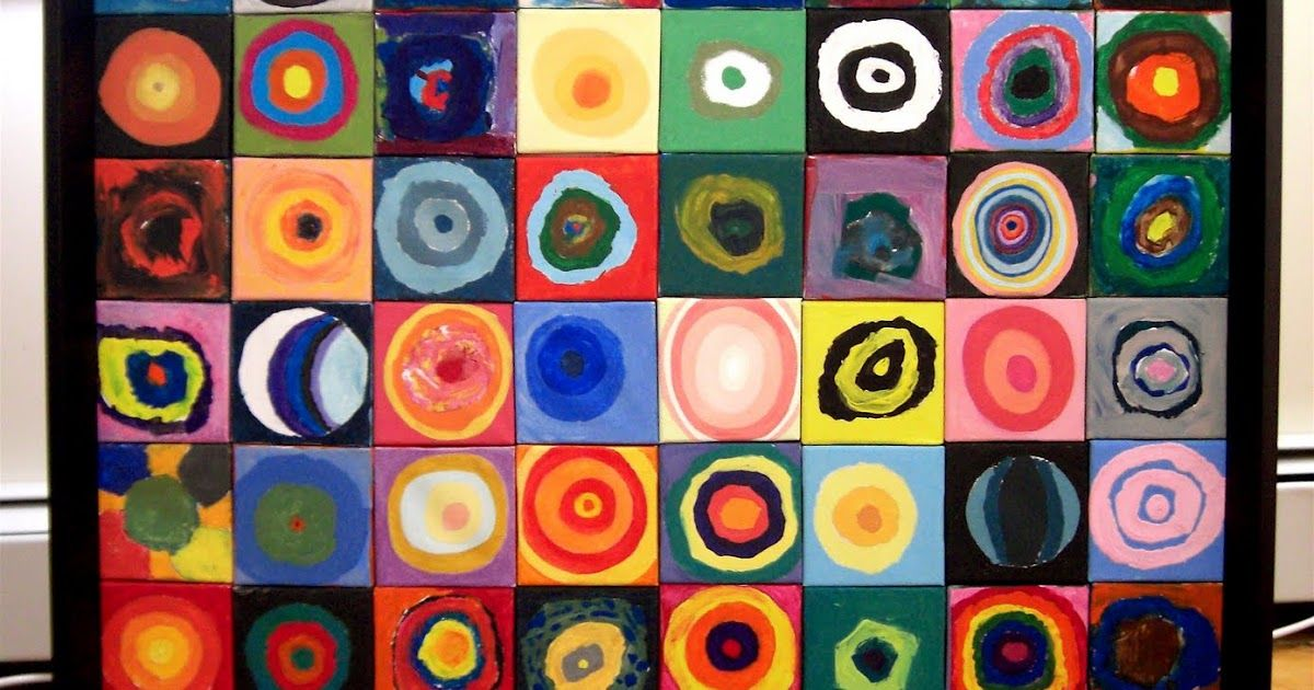 This was a collaborative mural painted by all grade levels.  You can read more information about the idea here .