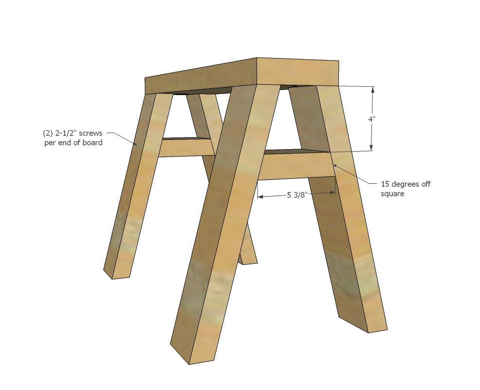 modern indsutrial adjustable sawhorse