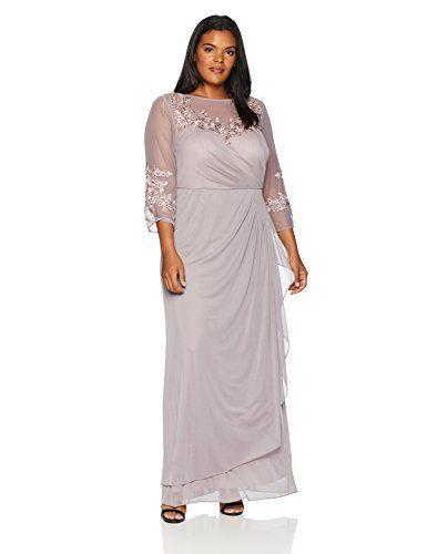 d243aa5219b Alex Evenings Women s Plus Size Long Sleeve Sweetheart Neckline Dress