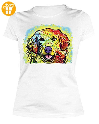 Toller Rottweiler Motivshirt Geschenk Aufdruck Hund bunt Neon Damen T-Shirt