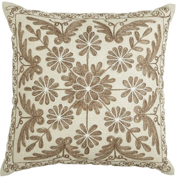 Pier One Decorative Pillows Best Pier 1 Imports Neutral Embroidered Medallion Pillow €21 Found On Inspiration