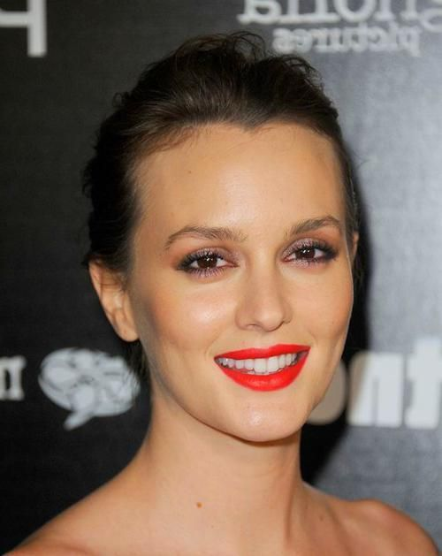 Celebrity Beauty Leighton Meester's shimmery eyeshadow and ...