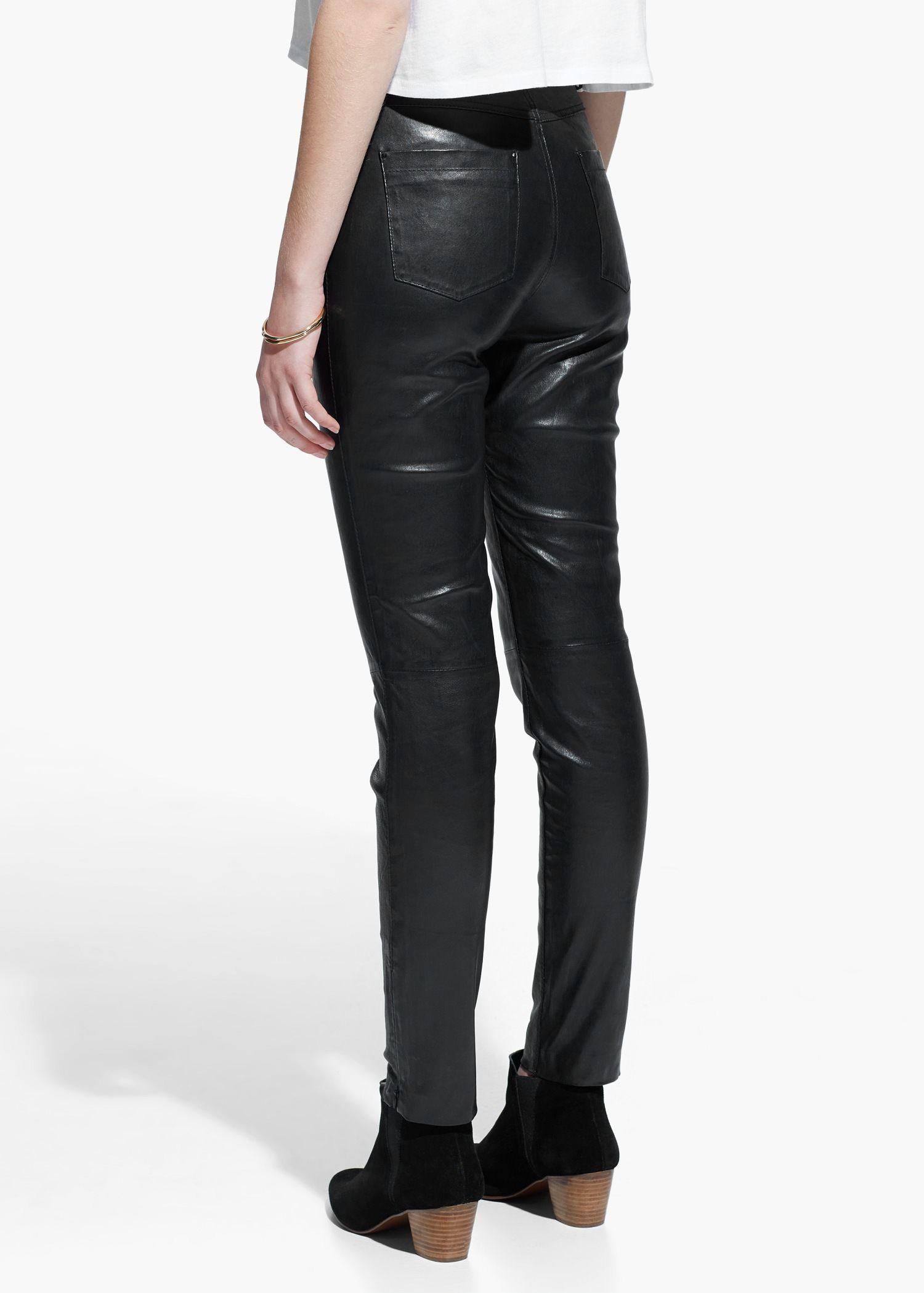3beb3d98d Pantalón alto piel - Mujer