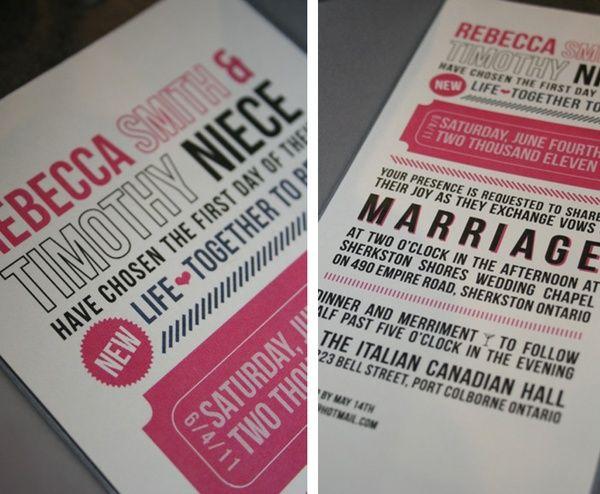 Katie Hinks Design Rebecca Tims Photo Booth Wedding Invitations