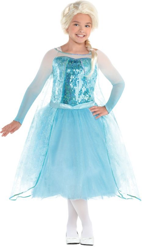 girls elsa costume premier frozen size 8 10 party city - Halloween Princess Costumes For Toddlers