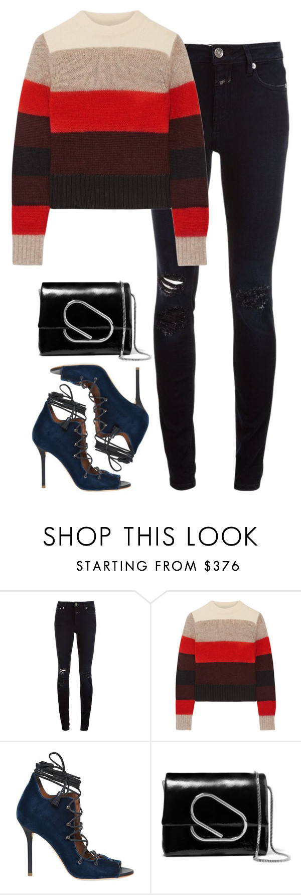 """""""Sin título #2407"""" by namelessale ❤ liked on Polyvore featuring Closed, rag & bone, Malone Souliers and 3.1 Phillip Lim"""