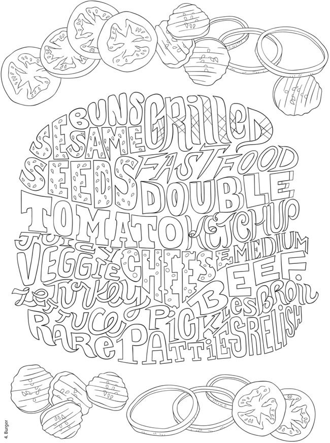 Creative Haven Delicious Whimsy A Wordplay Coloring Book