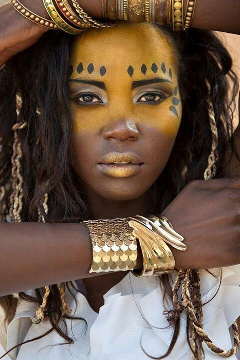 Tribal African Inspired face paint. Embrace the heritage