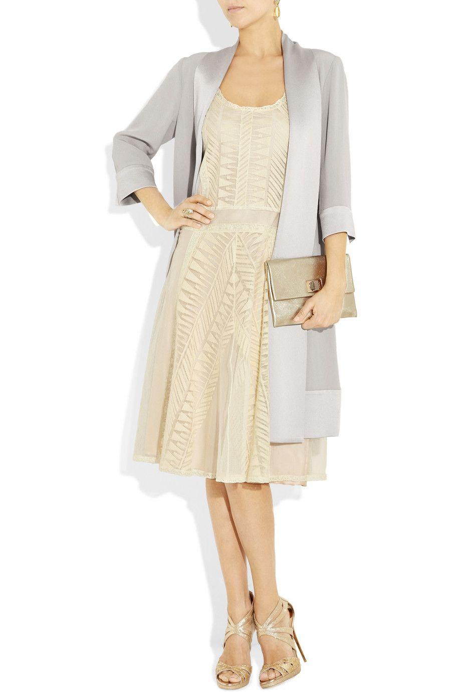 buy popular 4370e c8965 PHILOSOPHY DI ALBERTA FERRETTI Lace and cotton-tulle dress ...