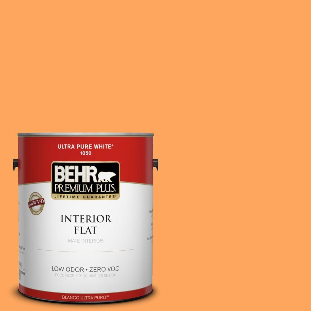 BEHR Premium Plus 1-gal. #270B-5 Melon Zero VOC Flat Interior Paint