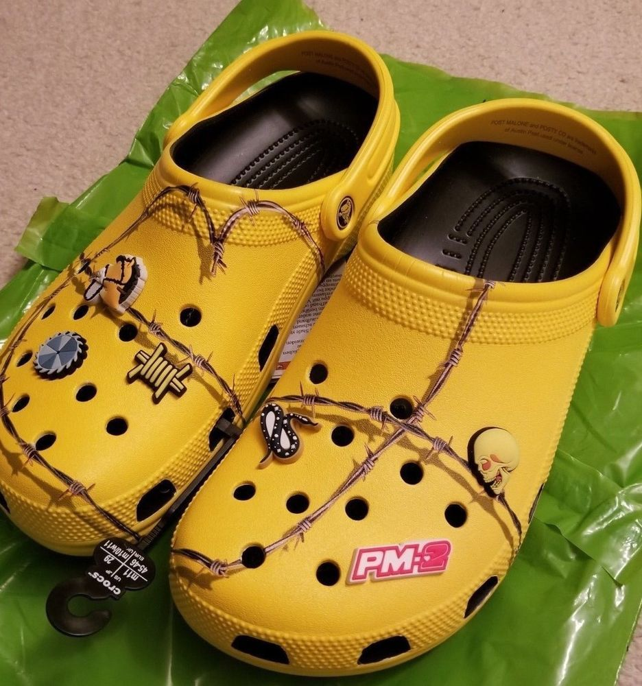 Post Malone X Crocs Barbed Wire Clog Size Sz 11 IN HAND