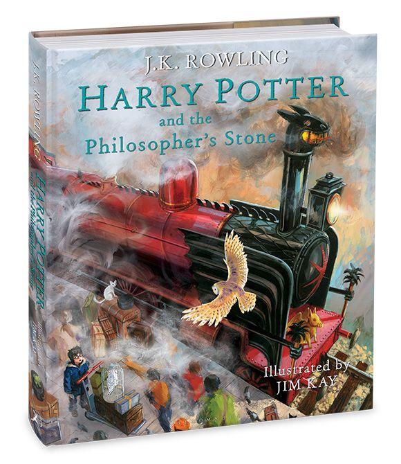Sorcerer S Stone Illustrated Edition Cover Revealed With A Dragon Like Hogwarts Express Kinderbucher Bucher Kinder