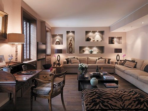 African Living Room Designs Entrancing African Safari Living Room Ideas Interior Design  Designelements Design Ideas