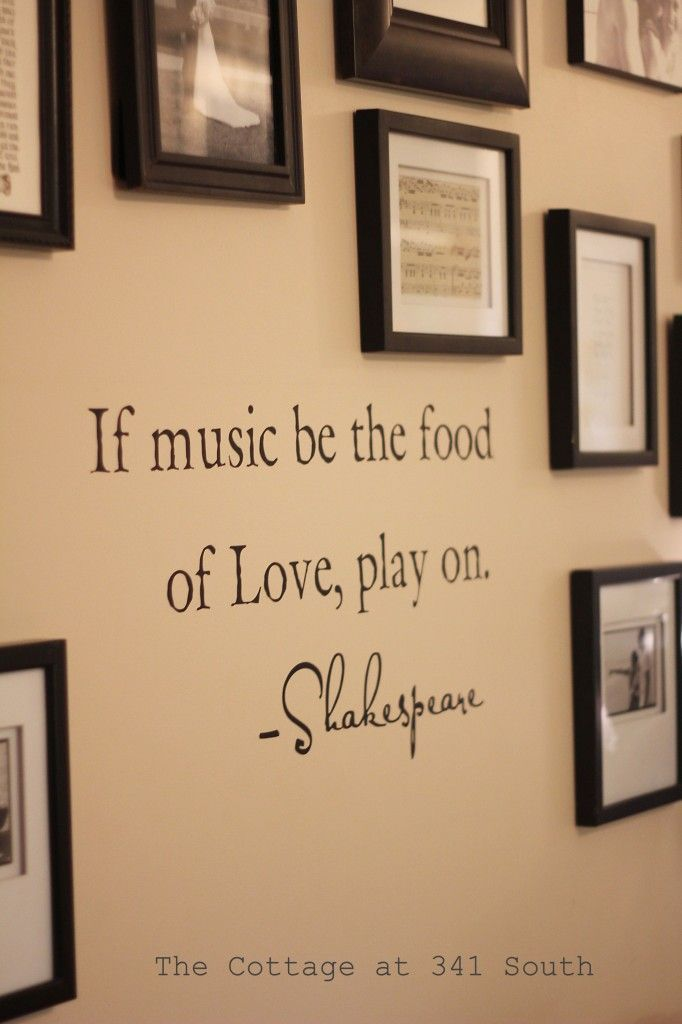 music room 1 Love all the frames the same and with music in some ...