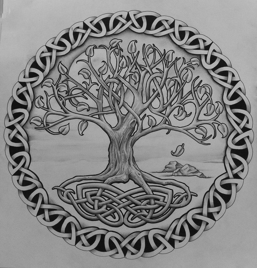 Tattoos Celtic Norse Tree Of Life With Rocks By Tattoo